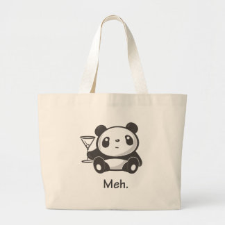 Meh Panda Large Tote Bag