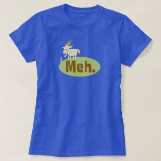 Meh (said the goat) Funny Wordplay Cartoon T-Shirt