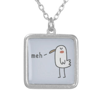 Meh Silver Plated Necklace
