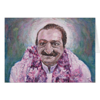 Meher Baba, blank message Card
