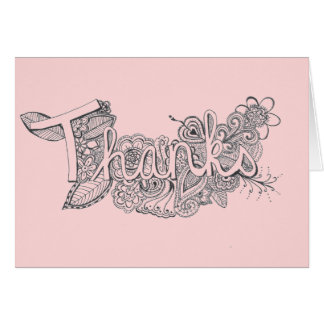 Mehndi Art Thank You Card