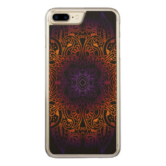 Mehndi Burst on Genuine Hardwood Maple Carved iPhone 8 Plus/7 Plus Case