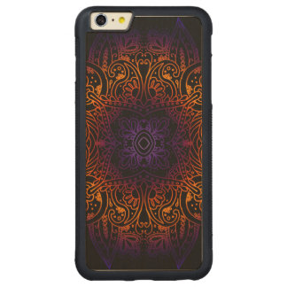 Mehndi Burst on Genuine Hardwood Maple Carved Maple iPhone 6 Plus Bumper Case