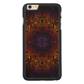Mehndi Burst on Genuine Hardwood Maple Carved Maple iPhone 6 Plus Case