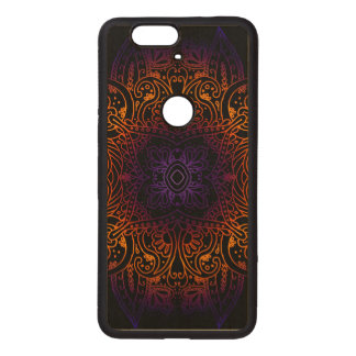 Mehndi Burst on Genuine Hardwood Maple Wood Nexus 6P Case