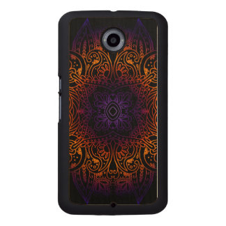Mehndi Burst on Genuine Hardwood Maple Wood Phone Case
