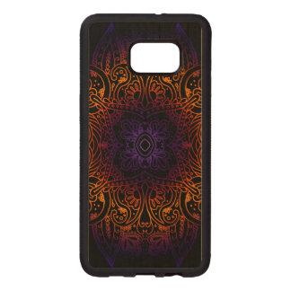 Mehndi Burst on Genuine Hardwood Maple Wood Samsung Galaxy S6 Edge Case