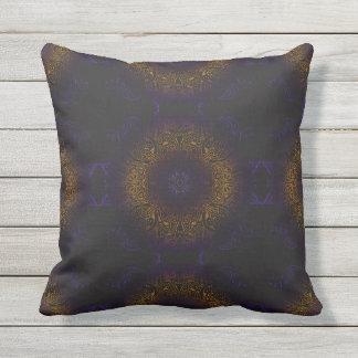 Mehndi Burst Patio Throw Pillow
