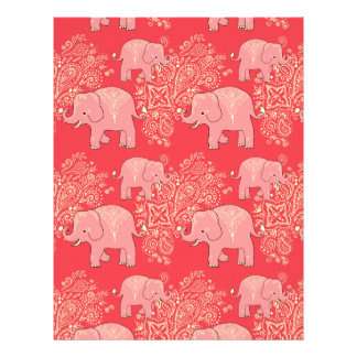 mehndi elephants scrapbook paper 8.5 x 11