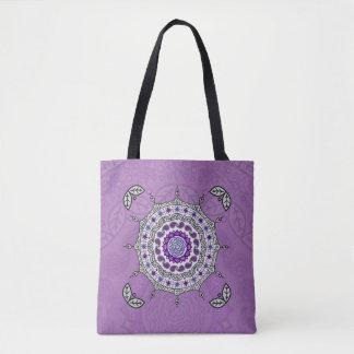 Mehndi Fantasy Silver All-Over-Print Bag