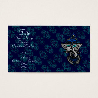 Mehndi Ganesha (Blue) Business Card