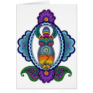 Mehndi Goddess Card- Blank Inside Greeting Card