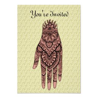 Mehndi Hand Tattoo Art Design Invitation