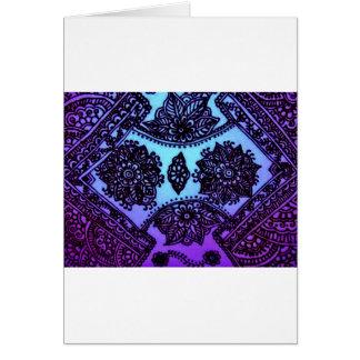 Mehndi Henna Blue Mix Cards