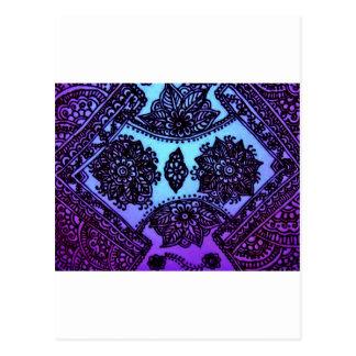 Mehndi Henna Blue Mix Postcard