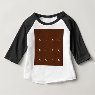 Mehndi henna Brown Ornaments. Luxury edition Baby T-Shirt