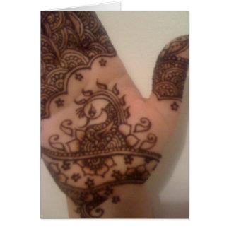 Mehndi Henna Card