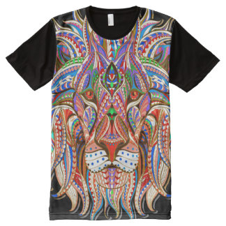 mehndi henna lion colorful psychedelic full print