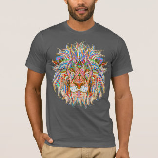 mehndi henna lion colorful psychedelic tshirt