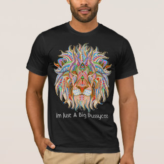 mehndi henna lion colorful psychedelic tshirt 3