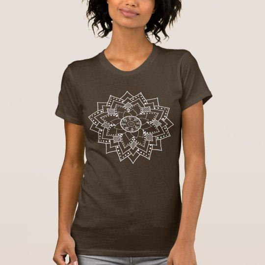 Mehndi / Henna style lotus flower blossom (white) T-Shirt