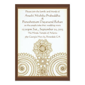 Mehndi Lace (5x7 Wedding Invitation) Card