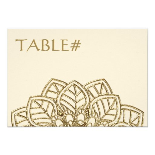 Mehndi Lace (Table Number Cards)