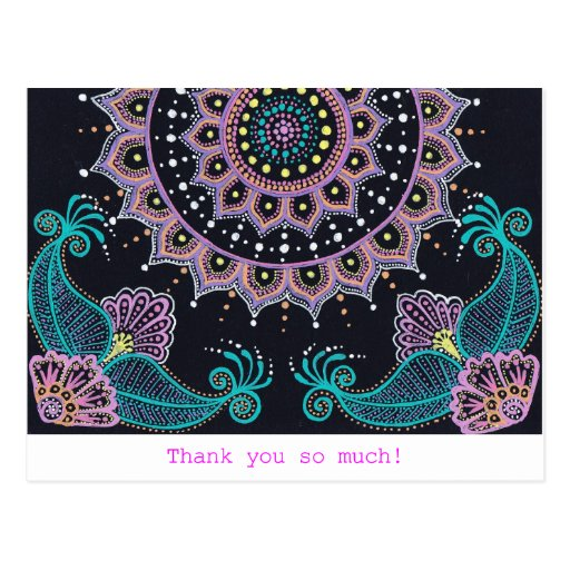 Mehndi Mandala World Post Cards