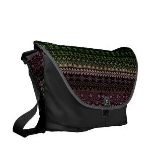 mehndi rainbow pattern messenger bags
