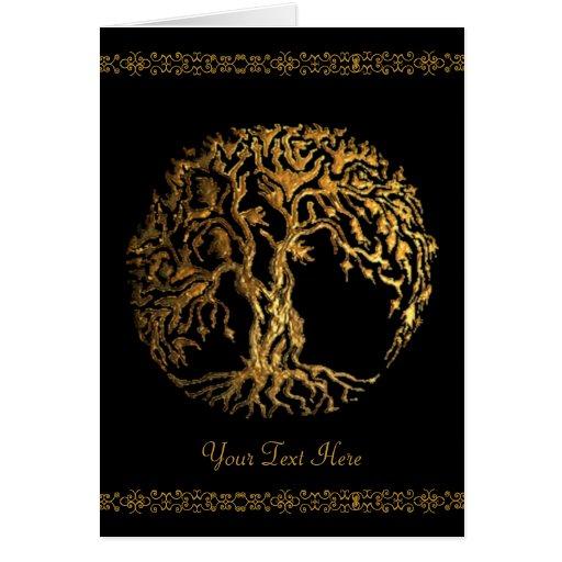 Mehndi Tree of Life (Gold) Cards