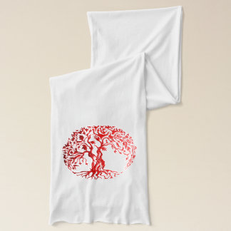 Mehndi Tree of Life (Henna) (Red) 2 Scarf