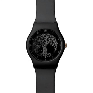 Mehndi Tree of Life (Henna) (Silver) Watch