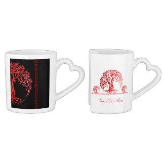 Mehndi Tree of Life (Red) (Henna) Coffee Mug Set
