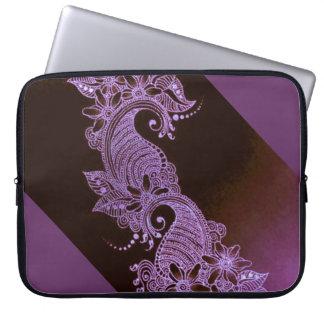 mehndi violet 2 floraux de henné trousses pour ordinateur portable