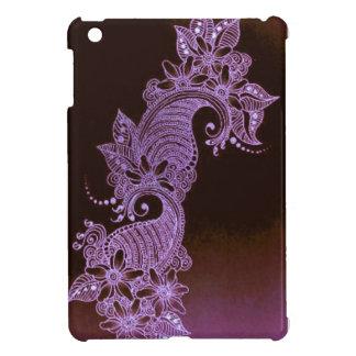 mehndi violet de henné floral coque pour iPad mini