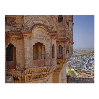 Mehrangarh Fort towering above Jodhpur, The Blue Postcard