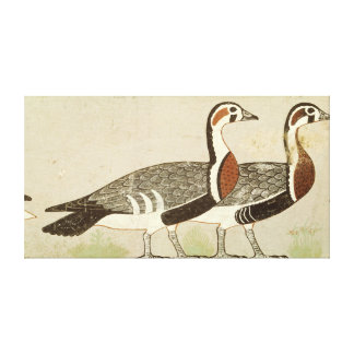 Meidum geese, from the Tomb of Nefermaat and Canvas Print