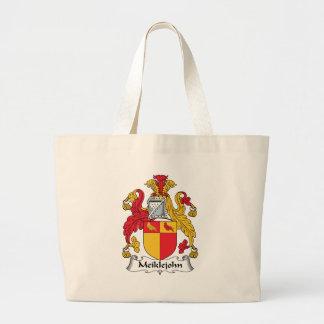Meiklejohn Family Crest Large Tote Bag