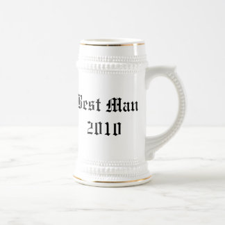 Meilleur stein personnalisé de faveur de mariage chope à bière