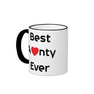 Meilleure tante Ever Mug Ringer