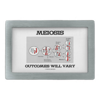 Meiosis Outcomes Will Vary (Meiosis Humor) Rectangular Belt Buckles