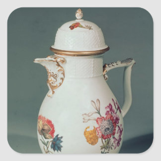 Meissen coffee pot, c.1740-50 square sticker