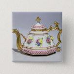 Meissen octagonal teapot, c.1718 2 inch square button