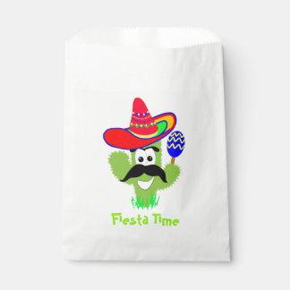 Meixican Sombrero Cactus Cartoon Party Fiesta Favour Bag