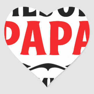 mejor papa delmonico heart sticker