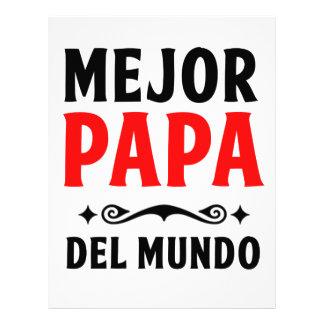 mejor papa delmonico letterhead template