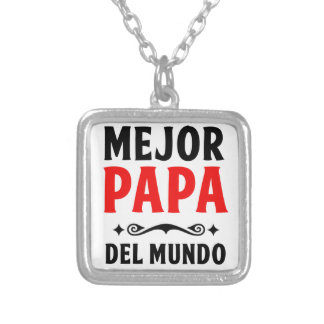 mejor papa delmonico silver plated necklace
