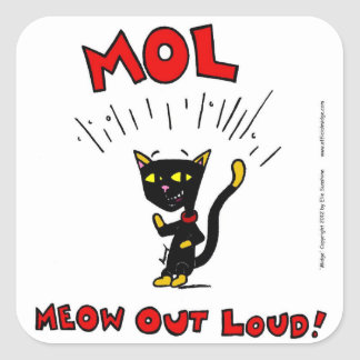 "Mel ""MOL: MEOW OUT LOUD"" Stickers - Set of 20"