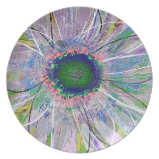 Melamine Dinnerware Flower Plate