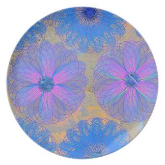 Melamine Dinnerware Trendy Floral Pattern Plate